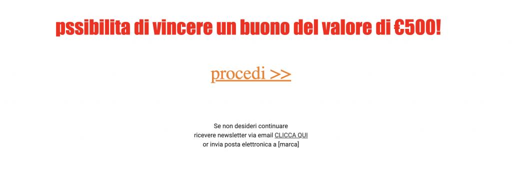esempio di spam